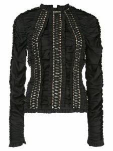 Zimmermann Espionage lace-up blouse - Black