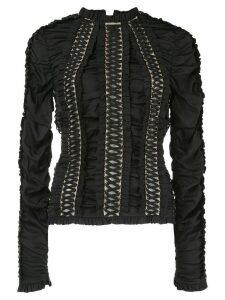 Zimmermann Espionage lace-up blouse - Black