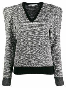 Stella McCartney patterned structured jumper - Black