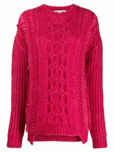 Stella McCartney chunky cable knit sweater - PINK