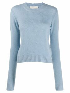 Bottega Veneta open knit details jumper - Blue