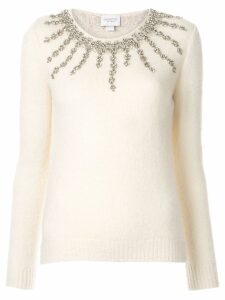 Giambattista Valli embellished fitted sweater - White