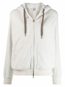 Brunello Cucinelli long sleeve hoodie - White