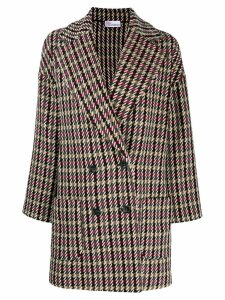 Red Valentino mixed check coat