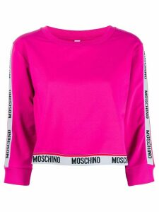 Moschino cropped sleeve sweatshirt - Pink