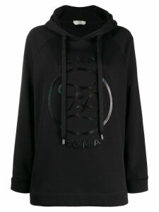 Fendi FF Karligraphy embossed hoodie - Black