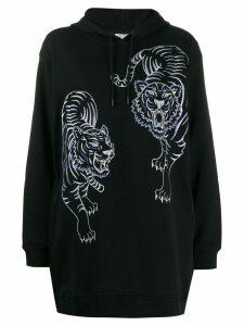 Kenzo oversized tiger-print hoodie - Black