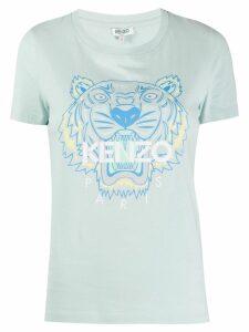 Kenzo tiger logo-print T-shirt - Blue