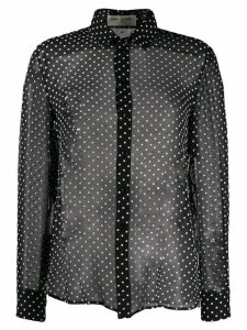 Saint Laurent sheer polka dots blouse - Black