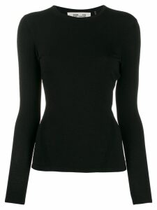 DVF Diane von Furstenberg slim-fit long-sleeve T-shirt - Black