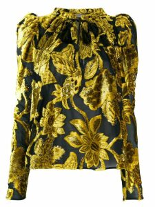 Ulla Johnson embroidered long sleeve top - Yellow