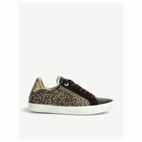 Ao studded leather trainers