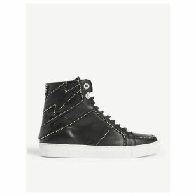 ZV1747 stud bolt leather high-top trainers