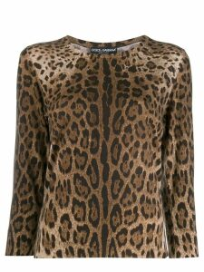 Dolce & Gabbana leopard pattern jumper - Brown