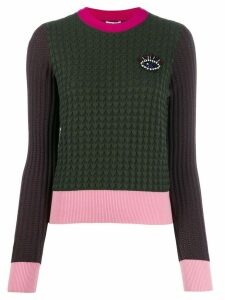 Kenzo beaded eye motif jumper - Green