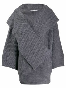 Stella McCartney oversized knitted cardigan - Grey