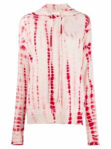 Fine Edge Floral tie-dye hoody - Pink