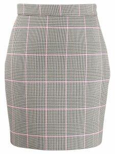 MSGM houndstooth short skirt - Black