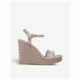 Rockstud Torchon wedge sandals