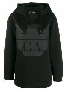 Emporio Armani logo print hoodie - Black