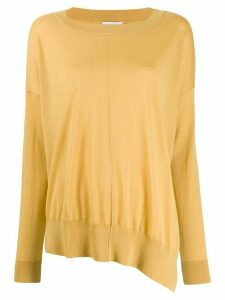 Closed boat neck sweatshirt - Yellow