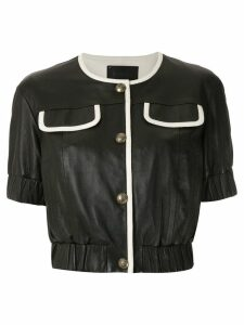 Andrea Bogosian buttoned leather blouse - Black