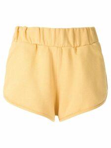Andrea Bogosian embellished Panama shorts - Yellow