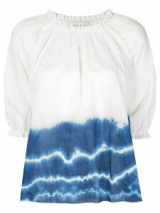 Karen Walker Ultramarine tie-dye top - White