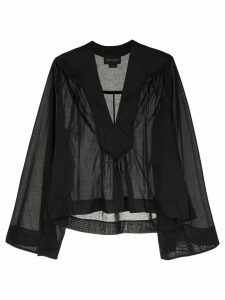 Karen Walker gathered blouse - Black