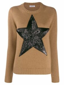 P.A.R.O.S.H. sequinned star jumper - Brown