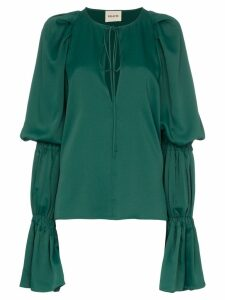 Khaite Cortez flared-sleeve blouse - Green