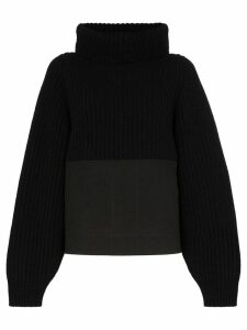 Haider Ackermann panelled turtleneck jumper - Black