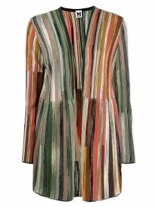 M Missoni striped knit cardigan - Blue