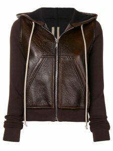 Rick Owens DRKSHDW zip front hoodie - Brown