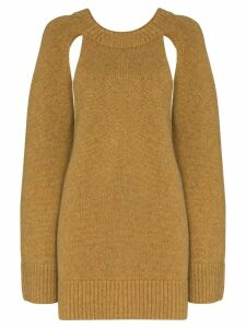Khaite Liz cutout knit cashmere jumper - Brown