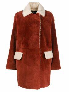Cara Mila Alba shearling coat - Red