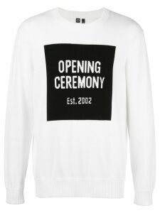Opening Ceremony logo knit jumper - White