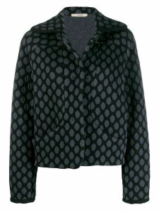 Odeeh all-over pattern jacket - Blue