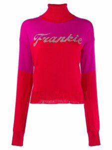 Frankie Morello embellished logo jumper - Red