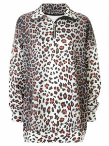 Marques'Almeida oversized leopard sweatshirt - Grey