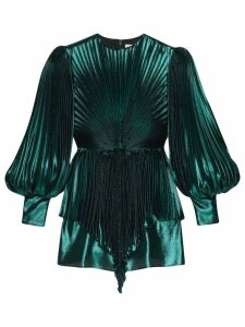 Gucci lamé pleated blouse - Green