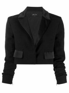 Andrea Ya'aqov cropped tailored blazer - Black