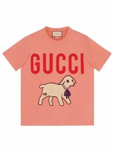 Gucci T-shirt with Gucci lamb - PINK