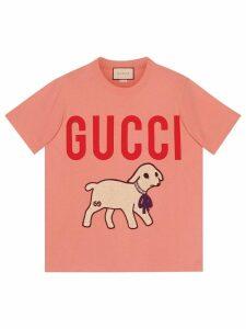 Gucci T-shirt with Gucci lamb - PINK