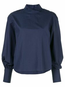 CK Calvin Klein long-sleeve poplin top - Blue