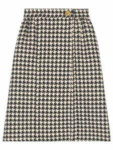 Gucci houndstooth tweed skirt - Black