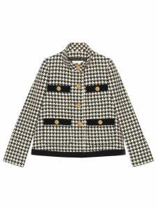 Gucci houndstooth tweed jacket - Black