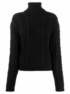 Andrea Ya'aqov cable knit jumper - Black