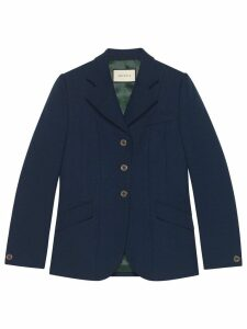 Gucci fitted tailored jacket - Blue