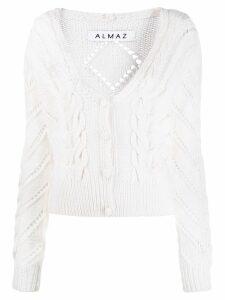 Almaz cable knit cardigan - White